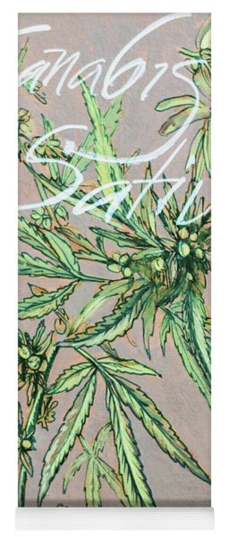 Cannabis Sativa.marijuana Botanical Yoga Mat