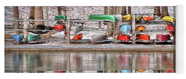 Canoe Reflections Yoga Mat