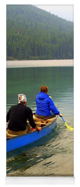 Canoeing Glacier Park Yoga Mat
