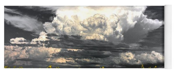 Canola Clouds Yoga Mat
