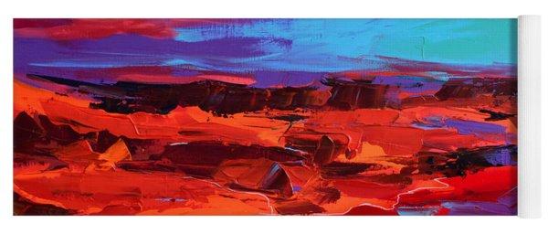 Canyon At Dusk - Art By Elise Palmigiani Yoga Mat