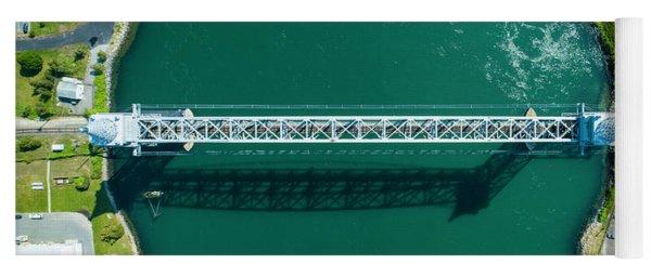 Yoga Mat featuring the photograph Cape Cod Canal Railroad Bridge by Michael Hughes