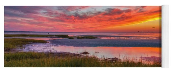 Cape Cod Skaket Beach Sunset Yoga Mat
