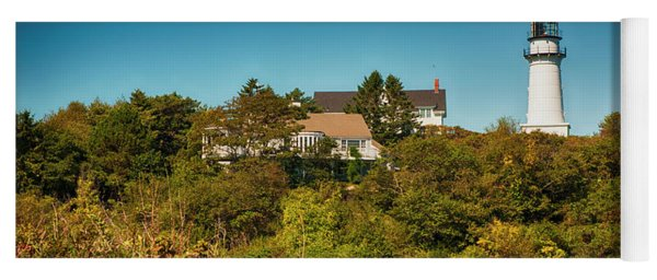 Cape Elizabeth Lighthouse Yoga Mat