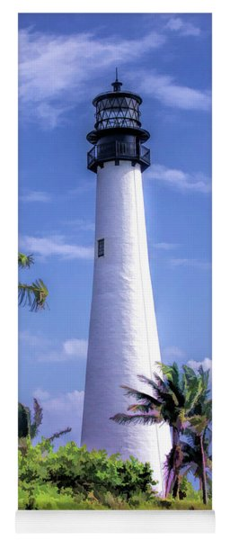 Yoga Mat featuring the painting Cape Florida Lighthouse by Christopher Arndt