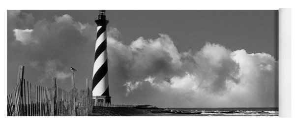 Cape Hatteras Lighthouse In Nc Black And White Yoga Mat