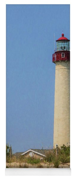 Cape May Lighthouse Vertical Yoga Mat