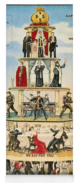 Capitalist Pyramid, 1911 - To License For Professional Use Visit Granger.com Yoga Mat