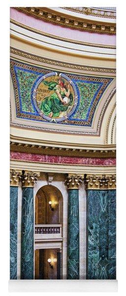 Capitol Rotunda -madison - Wisconsin Yoga Mat