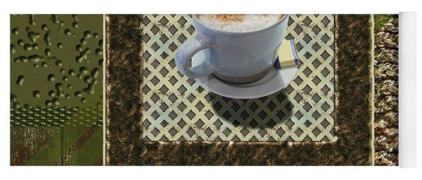 Cappuccino - Coffee Art - Green Yoga Mat