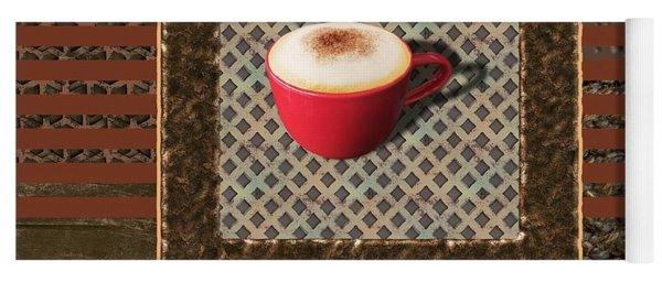 Cappuccino - Coffee Art - Red Yoga Mat