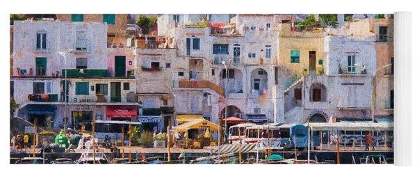 Capri Boat Harbor Yoga Mat