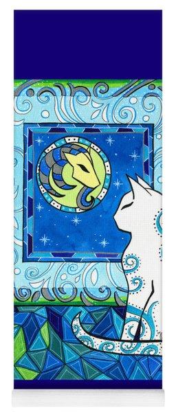 Capricorn Cat Zodiac Yoga Mat