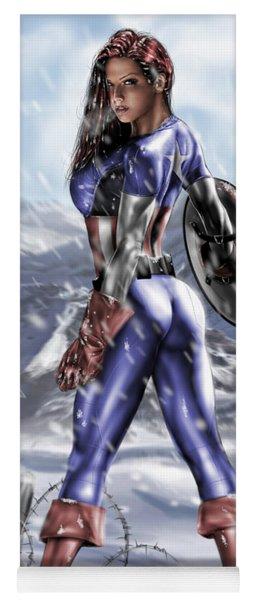 Captain America Yoga Mat