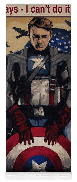 Captain America Recruiting Poster Yoga Mat