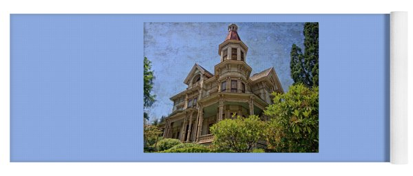 Yoga Mat featuring the photograph Captain George Flavel House by Thom Zehrfeld