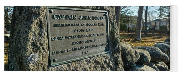 Captain John Locke Monument  Yoga Mat