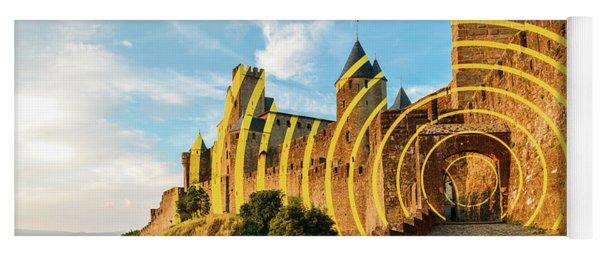 Carcassonne's Citadel, France Yoga Mat