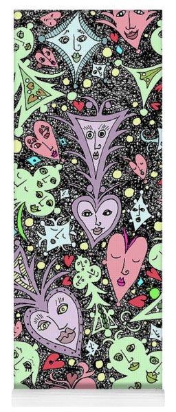 Card Game Symbols Cartoon Yoga Mat
