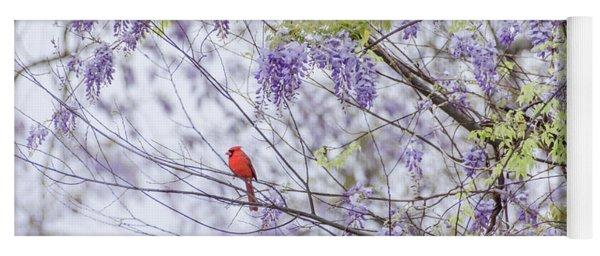 Cardinal And Wisteria Yoga Mat