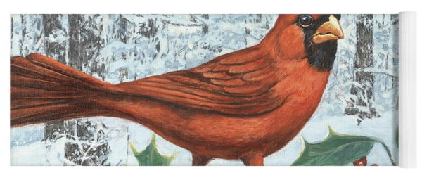 Cardinal Bird Yoga Mat