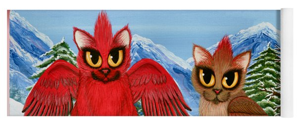 Cardinal Cats Yoga Mat