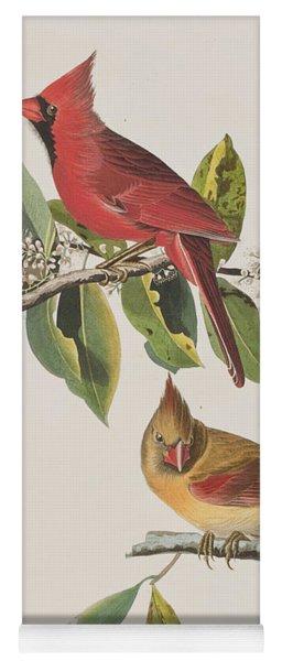 Cardinal Grosbeak Yoga Mat
