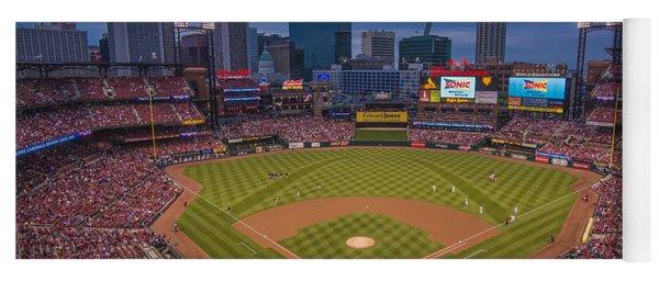 Cardinal Nation Busch Stadium St. Louis Cardinals Twilight 2015 Yoga Mat