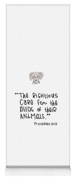 Care For Animals Yoga Mat