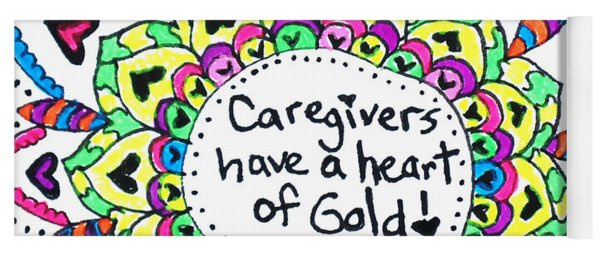 Caregiver Flower Yoga Mat