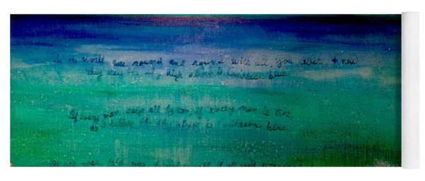 Caribbean Blue Words That Float On The Water  Yoga Mat