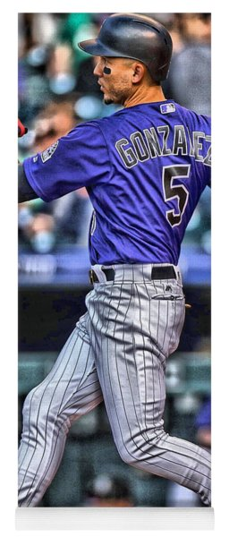 Carlos Gonzalez Colorado Rockies Art 3 Yoga Mat