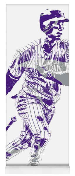 Carlos Gonzalez Colorado Rockies Pixel Art 10 Yoga Mat