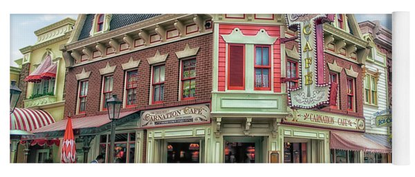 Carnation Cafe Main Street Disneyland 01 Yoga Mat