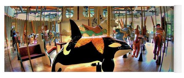 Carousel 2 At The Butchart Gardens Yoga Mat
