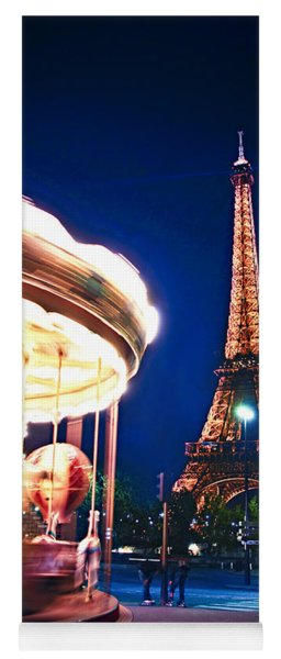 Carousel And Eiffel Tower Yoga Mat