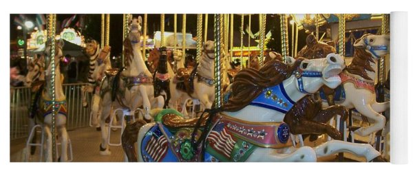 Carousel Horse 3 Yoga Mat