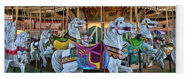 Carousel Horses Yoga Mat