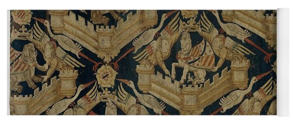 Textile Tapestry Carpet With The Arms Of Rogier De Beaufort Yoga Mat