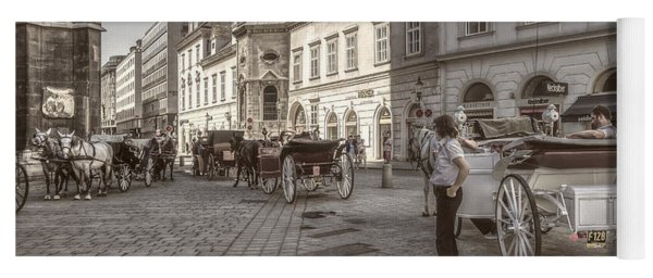 Carriages Back To Stephanplatz Yoga Mat