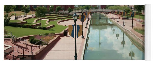 Carroll Creek Park In Frederick Maryland With Watercolor Effect Yoga Mat