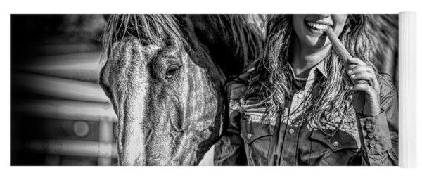 Carrots Cowgirls And Horses  Black Yoga Mat