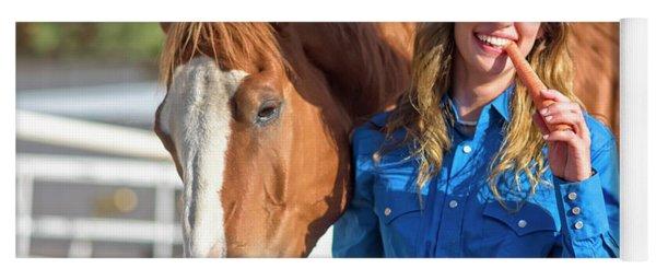 Carrots,cowgirls And Horses  Yoga Mat