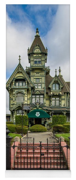 Carson Mansion In Winter Yoga Mat