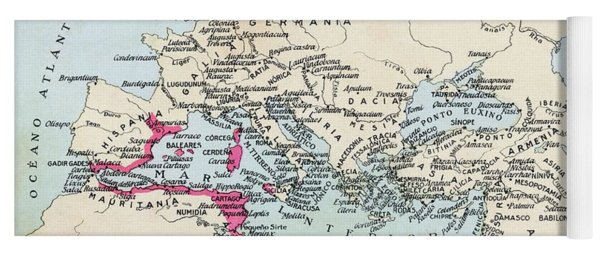Carthaginian Colonies And Area Of Yoga Mat