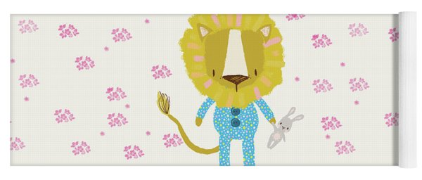 Cartoon Sweet Dreams Lion Yoga Mat