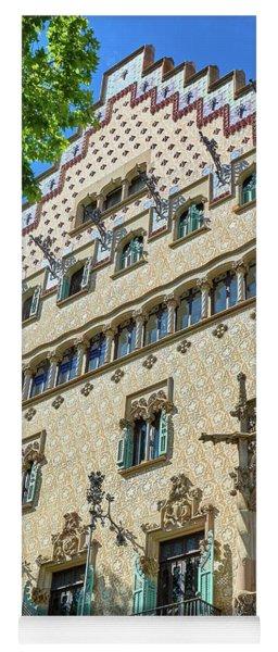 Yoga Mat featuring the photograph Casa Amatller In Barcelona by Eduardo Jose Accorinti