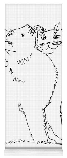 Cat-art-curious Yoga Mat