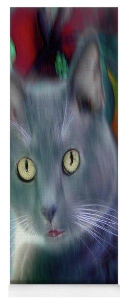 Cat Boticas Portrait 3 Yoga Mat