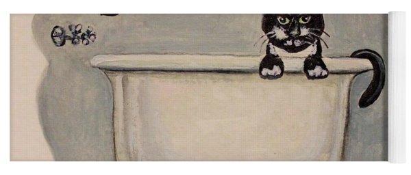 Cat In The Bathtub Yoga Mat